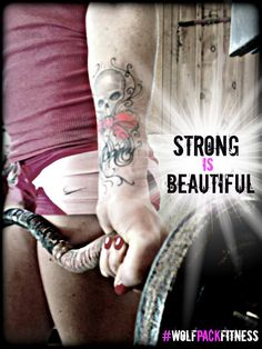 """Have you ever believed in something so deeply that you wanted it to become a part of you forever?   Well our SheWolves understand that """"Strong is Beautiful"""" is more than cool catch phrase; it's a movement; a revolution. It's the idea that one can exist in harmony with seemingly opposing traits. It's embracing the duality of feminine & fierce."""