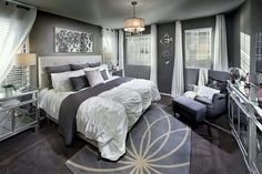 The latest tips and news on Bedroom Decor are on POPSUGAR Home. On POPSUGAR Home you will find everything you need on home décor, garden and Bedroom Decor. Master Bedroom Design, Dream Bedroom, Home Bedroom, Bedroom Ideas, Master Bedrooms, Grey Bedrooms, Bedroom Carpet, Bedroom Designs, Grey Bed Room Ideas