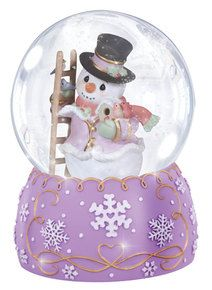 The Christmas Tree Company Precious Moments Snow Place Like Home Snowman Musical Water Globe Ornament Snowman Snow Globe, Cute Snowman, Snowmen, Christmas Snow Globes, Purple Christmas, Christmas Tree, Christmas 2019, Christmas Decor, Christmas Ideas