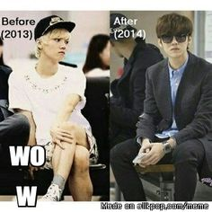 he became more manly ← LuLu will always be manly XD