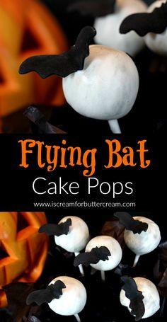 Flying Bat Cake Pops