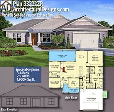 Architectural Designs Net Zero House Plan 33222ZRgives you 3-4 bedrooms, 2.5 baths and 1,900+ sq. ft. Ready when you are! Where do YOU want to build? #33222ZR#adhouseplans #craftsman #net #zero #architecturaldesigns #houseplans #architecture #newhome #newconstruction #newhouse #homeplans #architecture #home #homesweethome