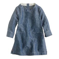 Tillie - crewcuts chambray tunic with leggings or white denim
