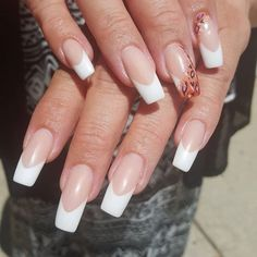 """""""Matte pink and whites with elongated nail beds and deep smile lines. #notd #nailart #nails #pinkandwhite #pink #nailguytv #mickymouse"""" Photo taken by @nailguytv on Instagram, pinned via the InstaPin iOS App! http://www.instapinapp.com (08/07/2015)"""