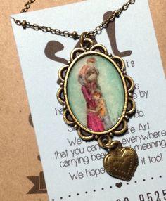 SAL Arte Colgante Hand-painted  Pendant necklace Motherhood