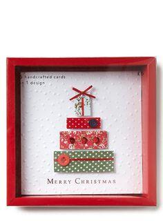 Fabric Present Christmas Card