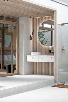 – Francisco's Beautiful World INR AIR baderomsinnredning i naturlig harmoni Dream Bathrooms, Beautiful Bathrooms, Modern Bathroom, Small Bathroom, Bathroom Design Inspiration, Bathroom Interior Design, Cottage Showers, Small Toilet Room, Patterned Furniture