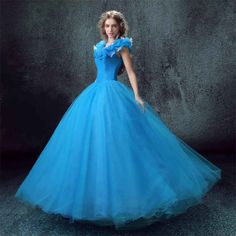 Cinderella costume cinderella dress adult ciderella by juccijoo Costume Princesse Disney, Disney Princess Costumes, Disney Princess Dresses, Princess Gowns, Disney Costumes, Blue Wedding Dresses, Prom Party Dresses, Blue Dresses, Wedding Blue