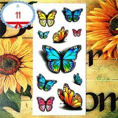 Amazing Butterfly 3d Temporary Tattoo Body Art Flash Tattoo Stickers 19*9cm Waterproof Car Styling Tatoo Home Decor Wall Sticker