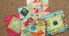 5 of the 7 blocks for april  april combines two sections of the gypsy wife quilt, yet it's still a small-ish month of making. section th...
