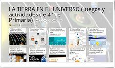 11 juegos y actividades sobre LA TIERRA Y EL UNIVERSO en 4º de Primaria