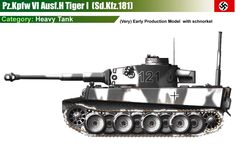 Pz.Kpfw VI Ausf.H Tiger I (early production model) with snorkel