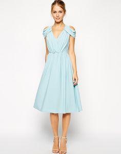 ASOS Wrap Front Midi Dress