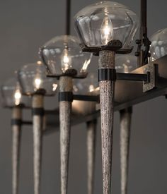 The Comet Chandelier, designed by High Point, NC-based HTK Design, is massive and stunning.