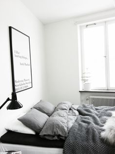 All grey bedroom | @andwhatelse