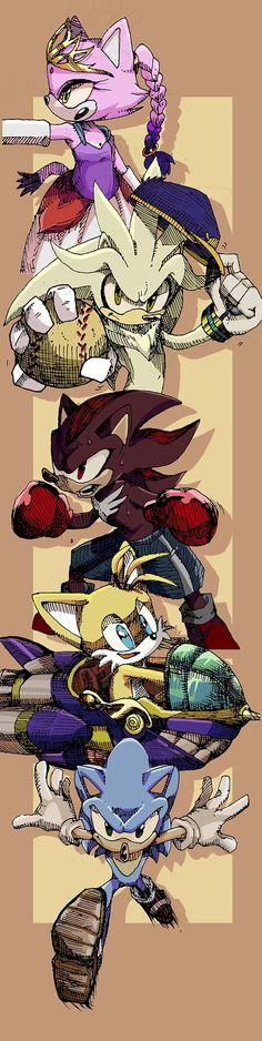 ✪ Blaze, Silver, Shadow, Tails, Sonic