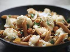 Sicilian-Style Cauliflower with Whole Wheat Pasta Recipe : Food Network Kitchen : Food Network