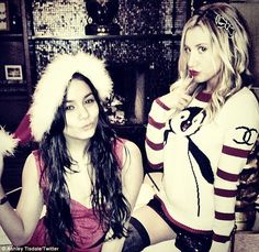 """'Santa's little helpers!' --> first I was all like Cute!! Then I was like,""""isn't Ashley Tisdale Jewish??"""" Hey no complaints here haha"""