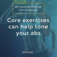 Want more-defined abdominal muscles? Core exercises are important. Although it takes aerobic activity to burn abdominal fat core exercises can strengthen and tone the underlying muscles. Find our 15-minute core workout app by clicking on our profile link