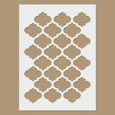 Marrakech reusable plastic stencil - Marrakech stencil by StencilDirect on Etsy - Wall Stencil Patterns, Stencil Templates, Stencil Diy, Stencil Designs, Paint Designs, Stencils, Stencil Painting On Walls, Fabric Painting, Islamic Patterns