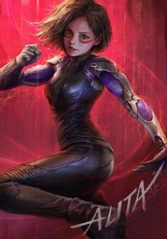 Alita: Battle Angel Fan Art - Created by Rayden Chen Art Manga, Anime Art Girl, Fan Art, Alita Movie, Alita Battle Angel Manga, Comics Anime, Cyberpunk Girl, Sr1, Fantasy Girl