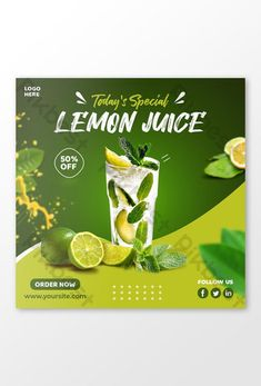 Geometric Photography, Food Poster Design, Specials Today, Instagram Post Template, Social Media Design, Layout Design, Lemon, Salad Bar, Poster Ideas