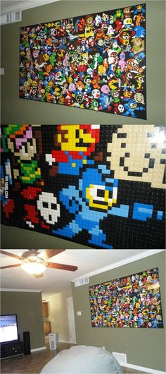 Video Game Classics on a lego wall!