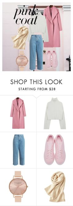 """•Pink Coat•"" by a90s-baby ❤ liked on Polyvore featuring Zimmermann, adidas Originals, Olivia Burton and Uniqlo"
