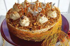 Kitchen Stori.es: Τούρτα Καραμελωμένων Φουντουκιών Greek Sweets, Kitchen Stories, My Dessert, Greek Recipes, Food Art, Muffin, Breakfast, Ethnic Recipes, Desserts