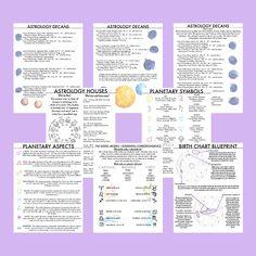 Astrology Basics 8 Page Printable Pack Book of Shadows Grimoire Fundamentals of Witchcraft Baby Beginner Witches Digital BOS Magickal Tools