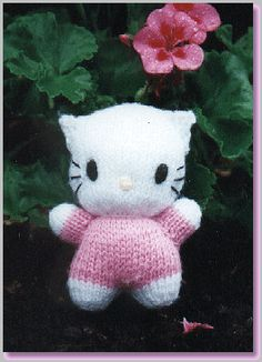 Hello Kitty Knitting Pattern. This is one on my all time fave toy patts....Big time Hello Kitty fan...took me ages to relocate, in a web archive for delected sites now...