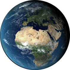 Wall Decal of Earth Showing Europe   27 inches round $30