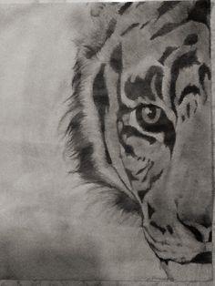 My Tiger drawing Animal Sketches, Drawing Sketches, Pencil Drawings, Art Drawings, Drawing Art, Tiger Drawing, Family Drawing, Cat Coloring Page, Sketches Tutorial