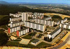 Una mierdaca brutalista para mayor jloriah del Vajhísimo Valentigney ( Doubs), agglomération Sochaux/Montbéliard, 70's.