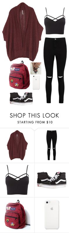 """"""""""" by magscerasuolo on Polyvore featuring moda, Boohoo, Charlotte Russe, Vans, JanSport y plus size clothing"""
