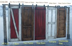 Barn Door Styles and Colors