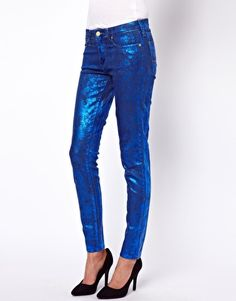 vivienne westwood for lee metallic skinny jeans
