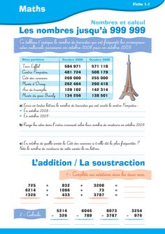 French Numbers, Spiral Math, Cycle 3, Teaching French, Math For Kids, Teaching Tools, Assessment, Homeschool, Multiplication