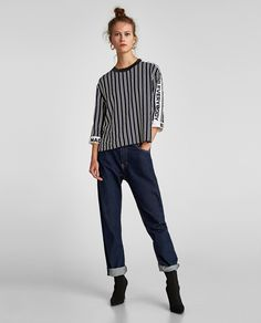 ZARA - WOMAN - STRIPED TOP WITH SIDE BANDS