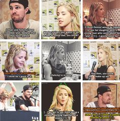 Best of Emily Bett Rickards & Stephen Amell talking about #Olicity at #SDCC 2015 #CWSDCC #Arrow