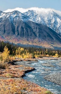 The Yukon Territory, Canada. I have pictures from what looks like this exact vantage point Oh The Places You'll Go, Places To Travel, Places To Visit, Alaska, Parc National, National Parks, Beautiful World, Beautiful Places, Beautiful Sites
