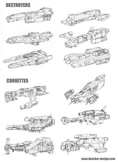 Small Warship Thumbnails by MikeDoscher.deviantart.com on @deviantART