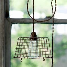 Park Hill Collection Wire Berry Basket Pendant Light - LL0947
