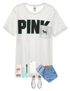 """""""Plz follow me!!!!❤️"""" by zoieann23 ❤ liked on Polyvore featuring Victoria's Secret, Levi's and Converse"""