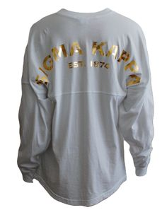 Sigma Kappa Metallic Spirit Jersey by Adam Block Design | Custom Greek Apparel & Sorority Clothes | www.adamblockdesign.com