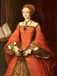 Elizabeth I when a Princess - Attrib. William Scrots, c.1546