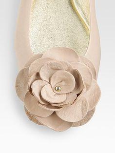 Jimmy Choo  Warwick Leather Ballet Flats