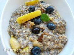 Chia krém, kaša, alebo puding? Raw Food Recipes, Puding, Ale, Oatmeal, Breakfast, Yum Yum, Smoothie, Household, Kassel