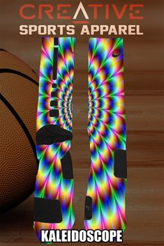 Custom Kaleidescope Nike Elite Socks #Nike #♥️These #Basketball