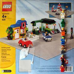 Đồ chơi LEGO 628 Grey Plates 48×48 -Tấm nền xây dựng màu xám 48×48 nút